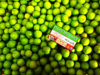 Gojeh sabz, or unripened greengages or Green Plums, (in Arabic: Jenerick and Turkish: Erik) are as popular in Iran as, let's say, strawberries are in the USA.