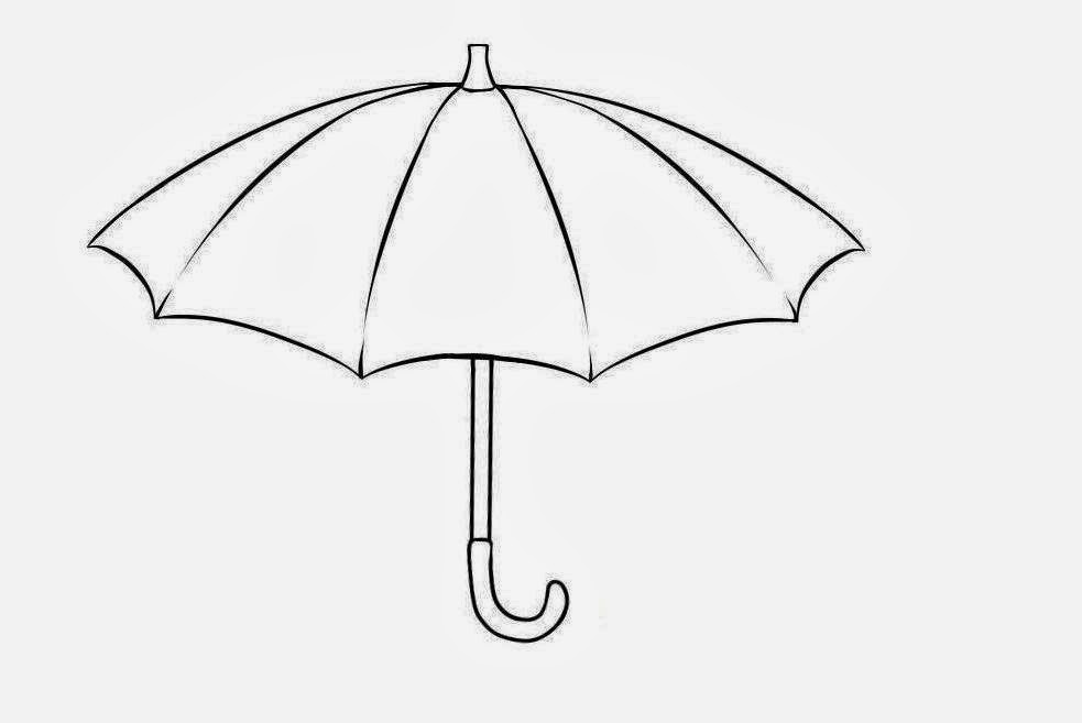 Line Drawing Umbrella : Free coloring pages of umbrella line draw