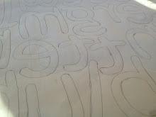 make a text applique pattern
