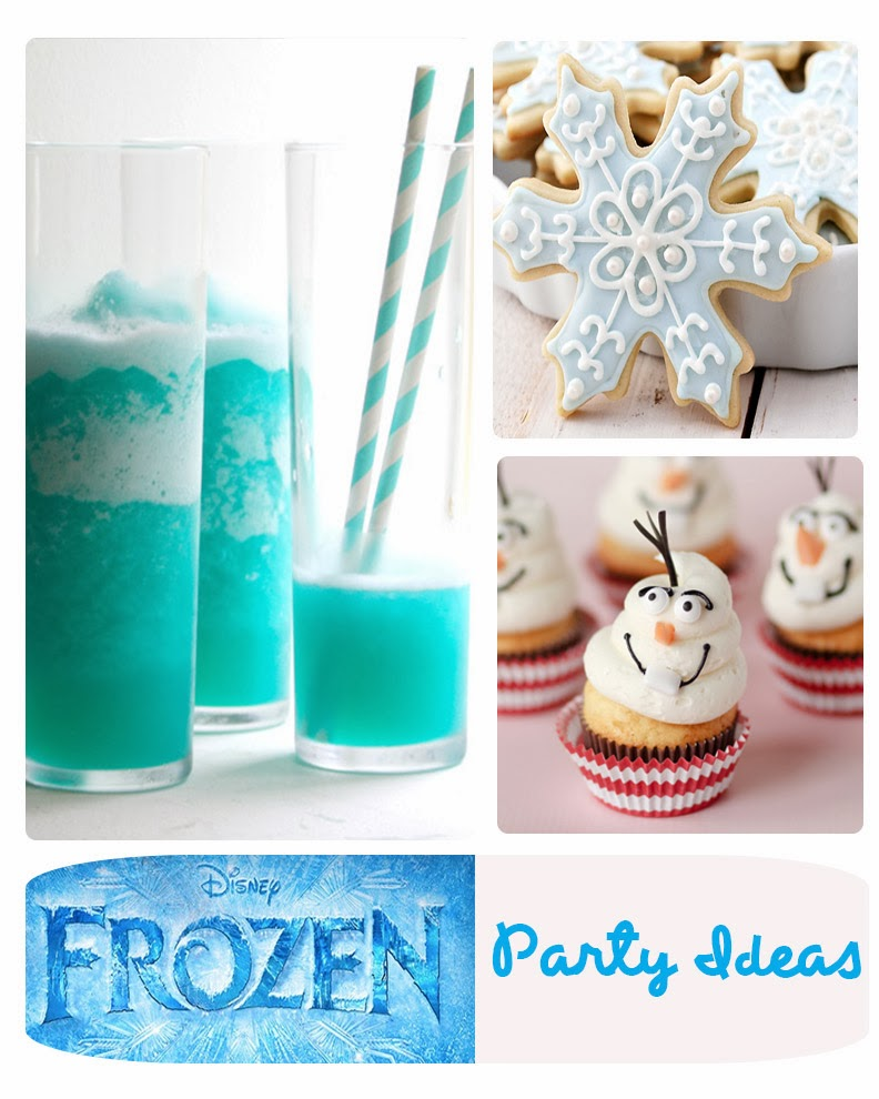 39+ Party Ideas for Disney's Frozen ( Movie ) Food, Treats, Drinks and