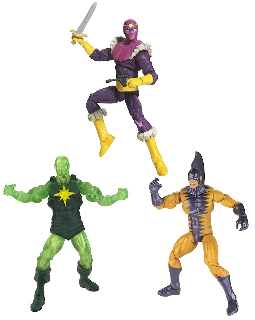 San Diego Comic-Con 2012 Exclusive Masters of Evil Marvel Universe Action Figure 3 Pack - Baron Zemo, Radioactive Man & Tiger Shark