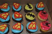I had a lot of fun making these Superman, Spiderman, and Batman cupcakes.