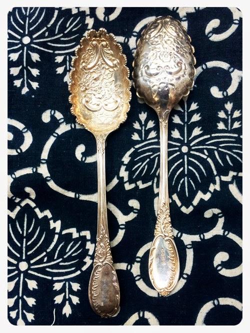vintage spoons via small acorns blog