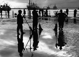 Las dársenas y el pescador de jaivas