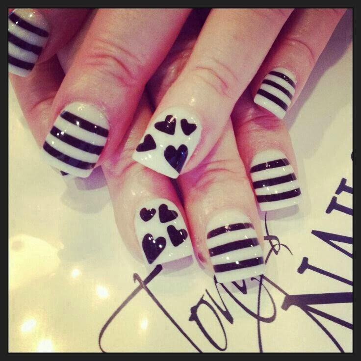 Cute Line Nail Designs