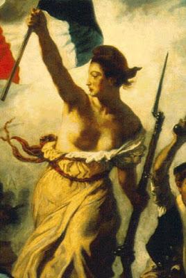 Fragmento de 'La libertad guiando al pueblo' - Eugène Delacroix