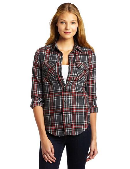 Plaid Button Up Shirts Women