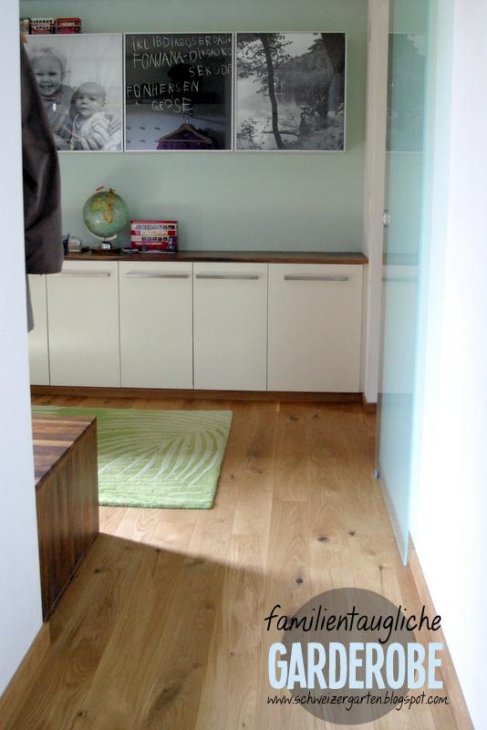 ein schweizer garten familiengarderobe wohnen mit kindern. Black Bedroom Furniture Sets. Home Design Ideas