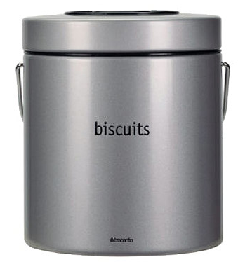 metallic gray biscuit barrel