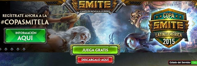 Registrate en Smite Online