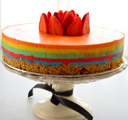 Rainbow Lemon Cheesecake