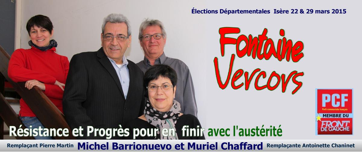 Elections départementales Isère Fontaine-Vercors
