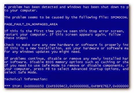 sửa lỗi màn hình xanh