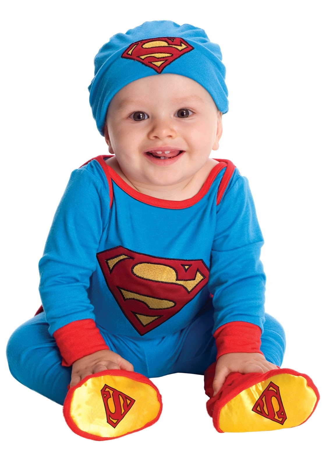 Superman baby in superman costume