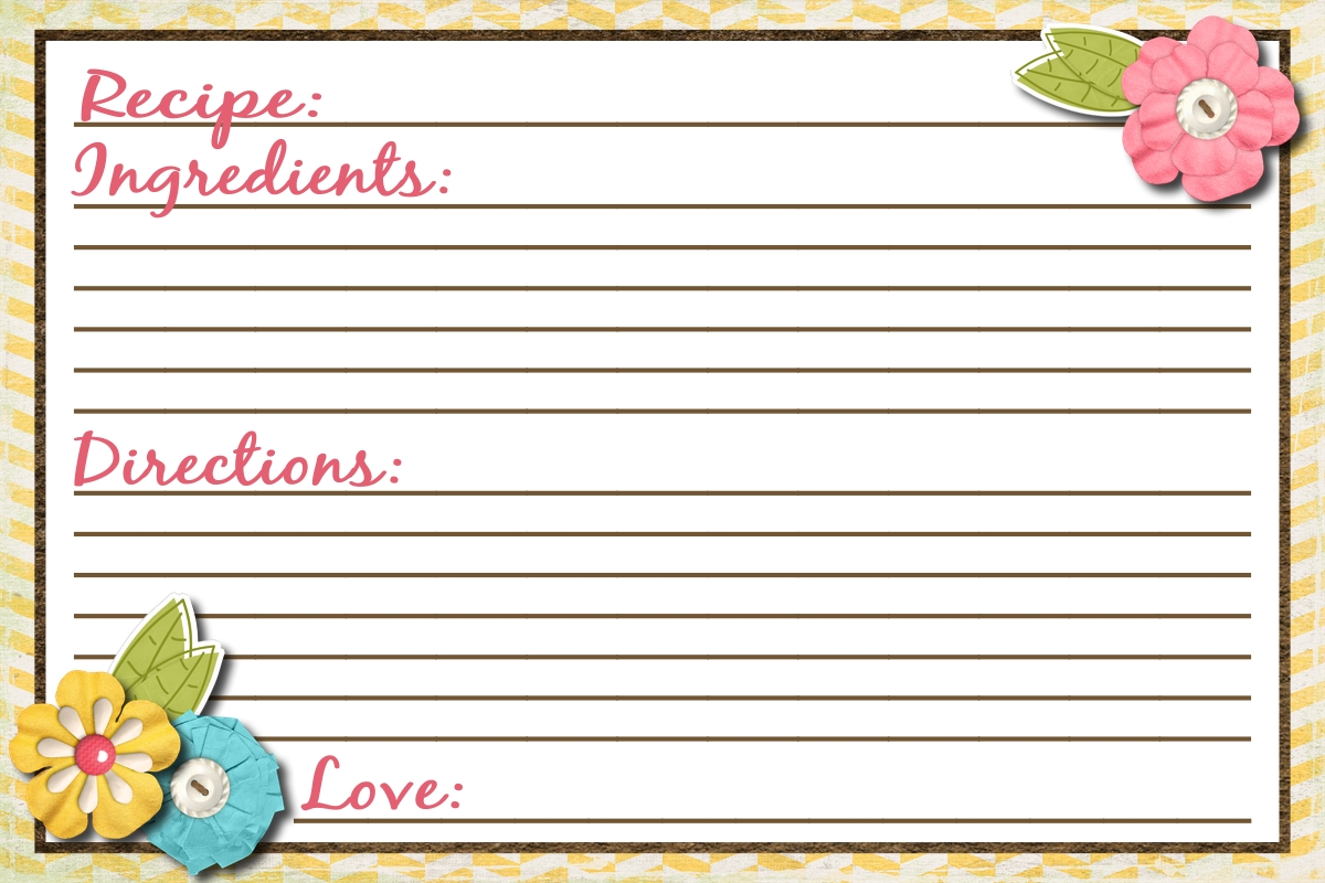 Sassy Sanctuary: Recipe Card- Free Printable!!!