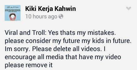 Kiki Nafi Buat Permohonan Maaf di Facebook