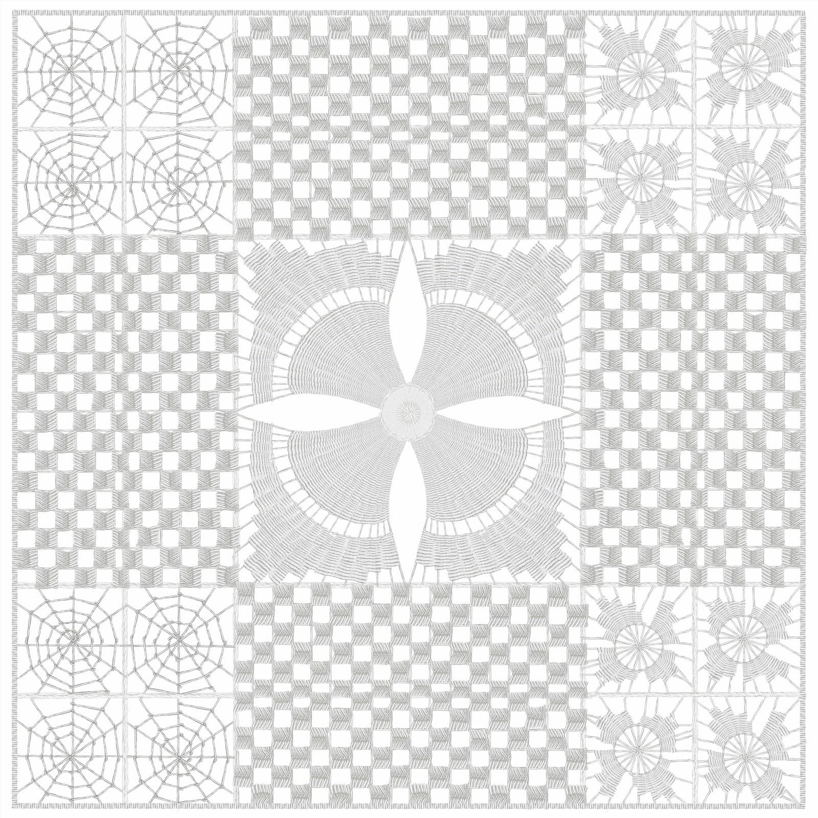 hilorama 2,  Congo, geometrias, hilo, dibujo