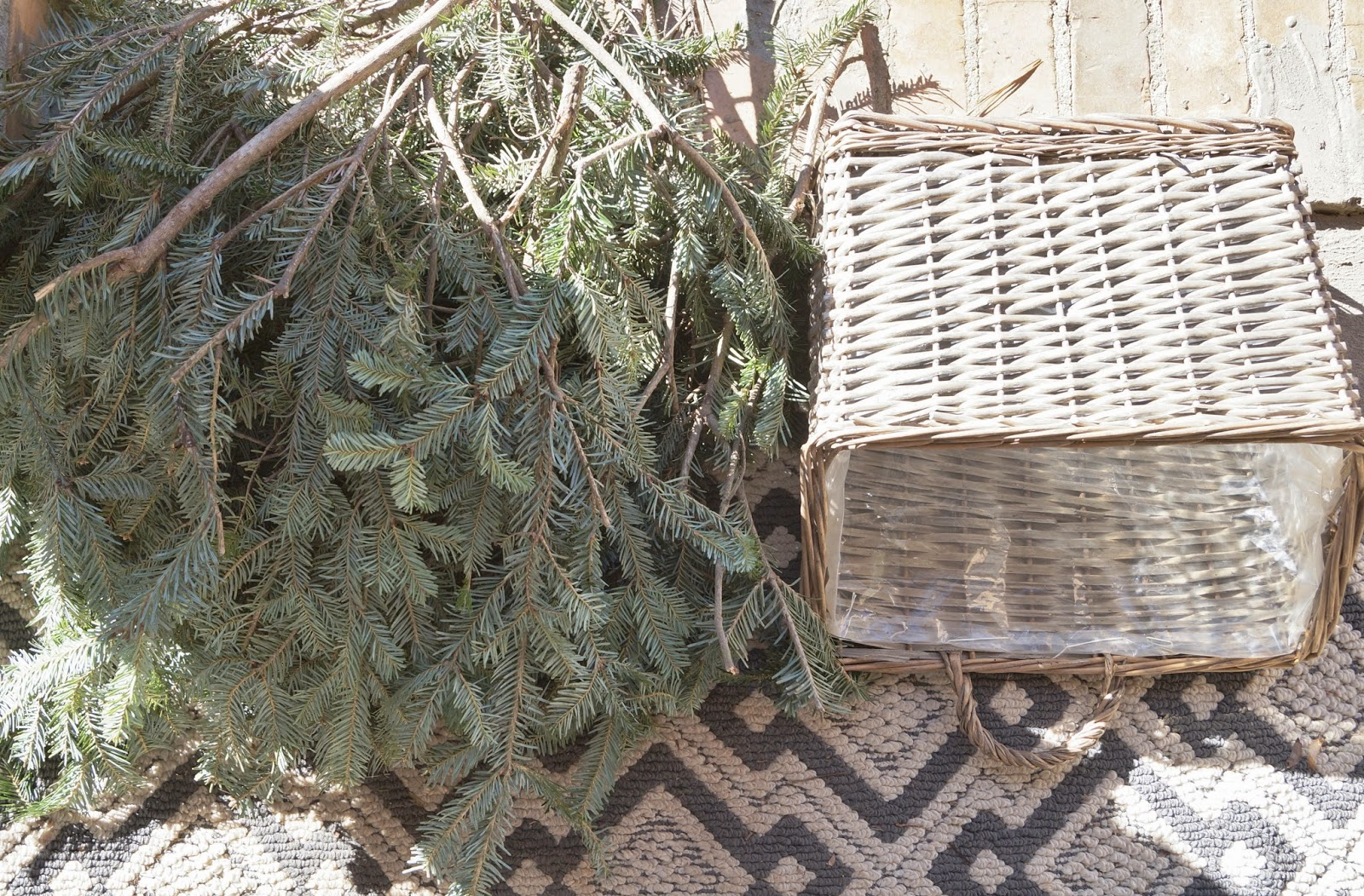 Dont Disturb This Groove Christmas Door Basket