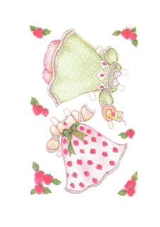 bonitos vestidos de tarta de fresa