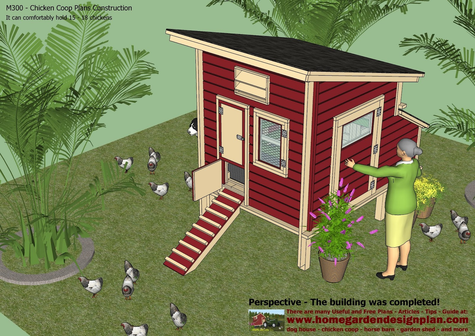 Home Garden Plans: M300   Chicken Coop Plans   Chicken Coop Design   .