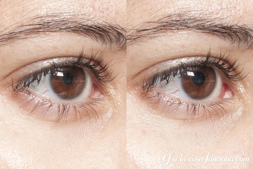 Comparativa Resultado Máscara Pestañas Divine Volume Curves Deborah Milano