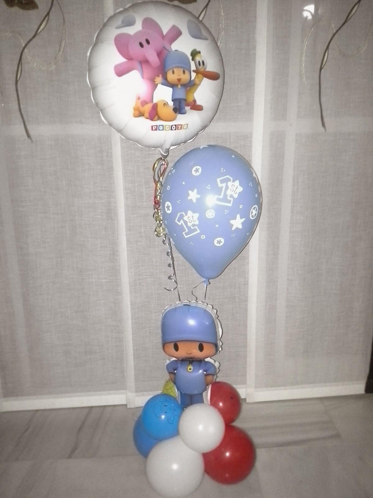 Decoraciones D'glObOs!: 1º Cumpleaños de Pocoyo D'glObOs!