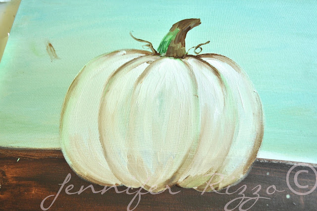 How to paint a pumpkin canvas, art skills not required!!!adding shading