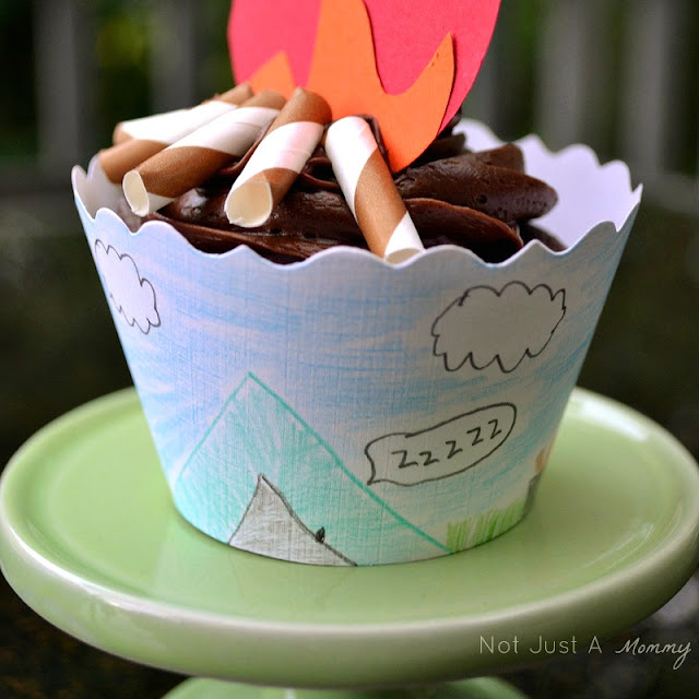 Back to school Bella Cupcake Couture blog party camping cupcake 2