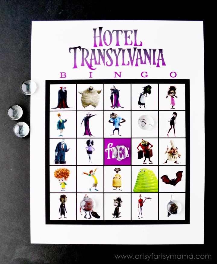 Free Printable Hotel Transylvania Bingo at artsyfartsymama.com