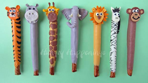 Jungle Animal Pretzel Pops