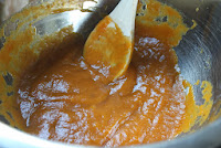 Pumpkin puree for pumpkin-cranberry-pecan twists