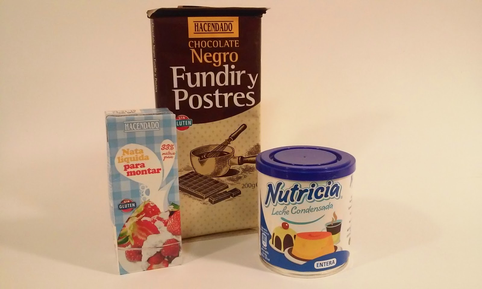 ingredientes crema de chocolate