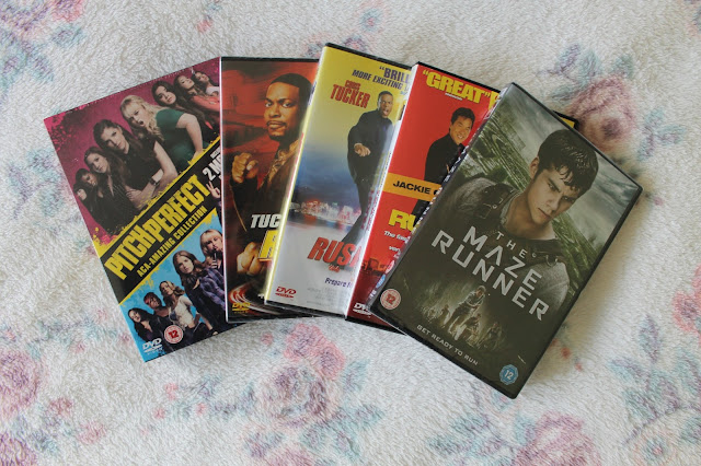 What I Got For Christmas 2015: Bits and Bobs Edition Pitch Perfect 1 and 1 Rush Hour 1 2 3 The Maze Runner DVDs