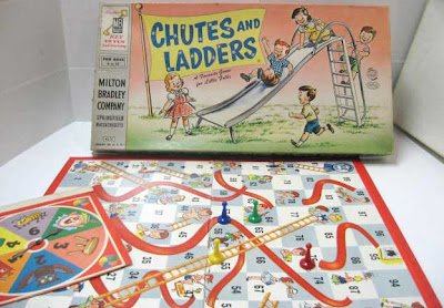 1950s box and board with all white kids
