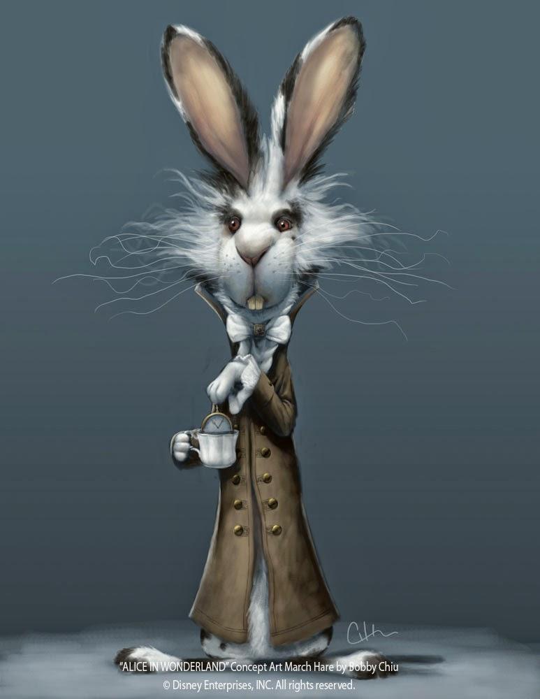 illustration de Bobby Chiu représentant un lapin d'alice au pays des merveilles