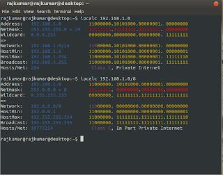 ipcalc in ubuntu