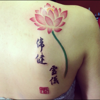 Calligraphy and Lotus