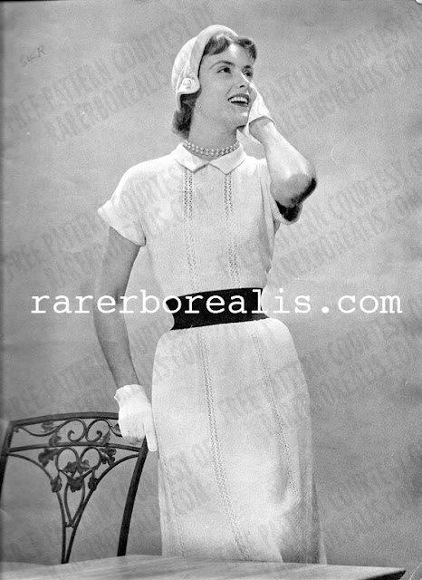 Free Pattern 1950's Knitting - Courticelli Dress