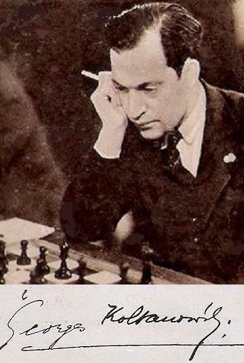 Georges Koltanowski y su firma