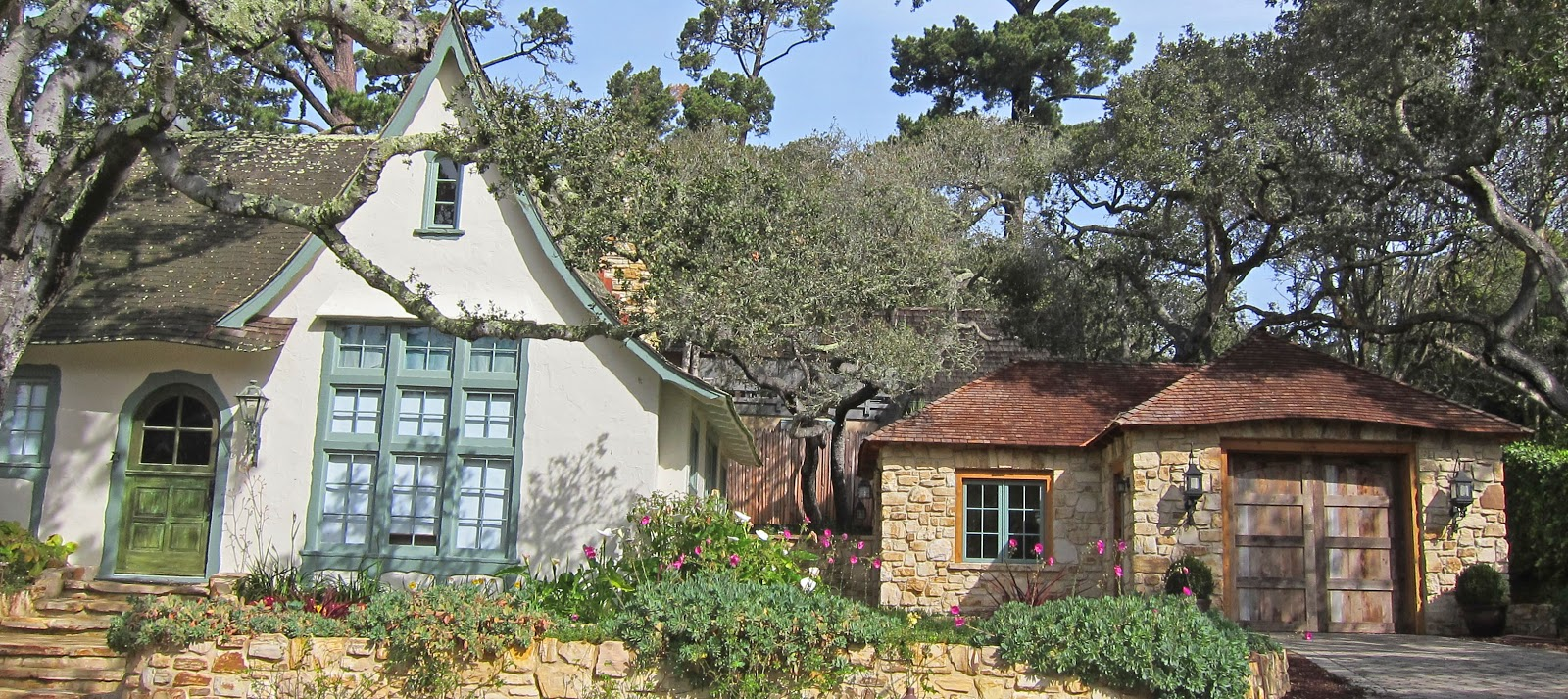 Fairy tale cottages of hugh comstock obers now known as for Detached garage utah
