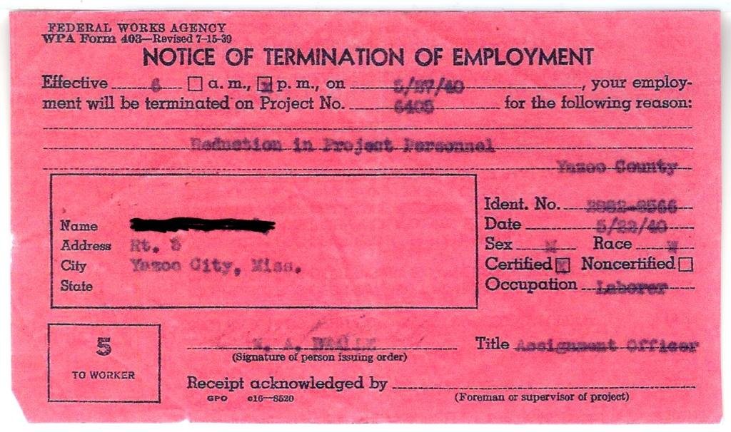 termination of employment papers