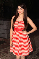 Prachi Desai in a Spicy Red White Frock at a Party in Mumbai