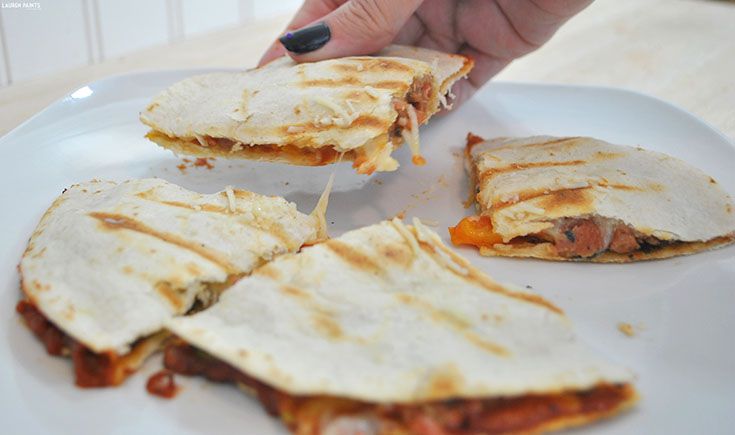 Get #CookingwithGuyFieri: Tex-Mex Scramble AND Quesadilla Pizza Recipe