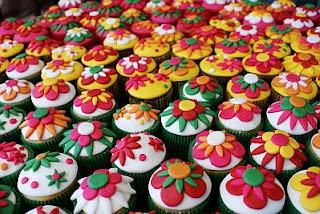Cupcakes con Flores para Fiestas Infantiles, parte 2
