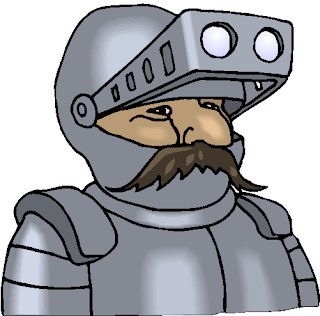 Man with Moustache in Armor Suit Free Clipart