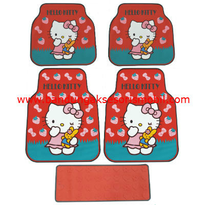 Karpet Kitty+Strawberry Merah Perancis