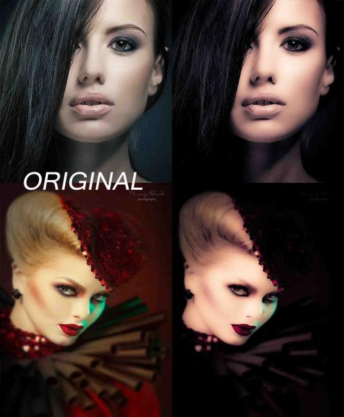 preset para Lightroom, matiza, suavizar y elimina arrugas y marcas de expresion potencia la parte malvada o gotica de las fotografias