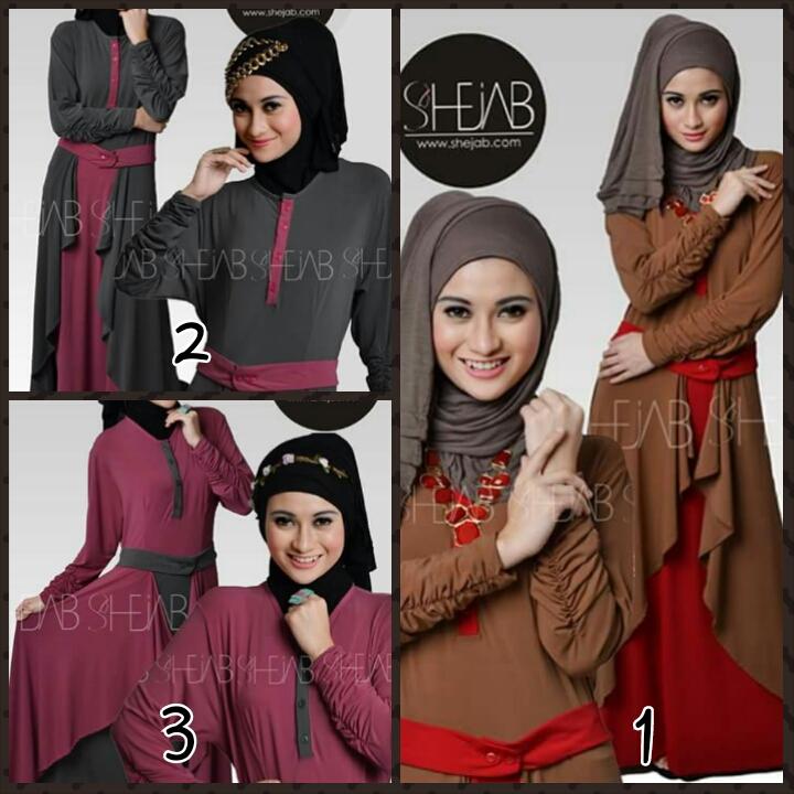 Shejab Rosaline Dress (Toko Jilbab dan Busana Muslimah Terbaru)