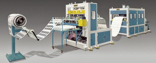 Thermo Forming Machine (For Plastic lid, Cup, Container, etc.), Made in Korea
