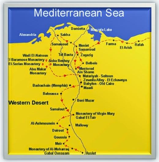 Egitalloyd Travel Egypt Short Story Tracing The Steps Of The - Map of zagazig egypt